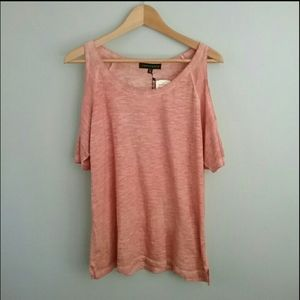Sanctuary Tops - Sanctuary//Copper Pink Bare Shoulder Tee